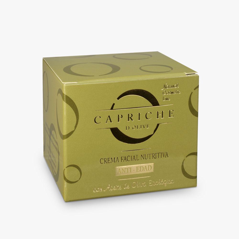 Caja crema facial nutritiva antiedad noche